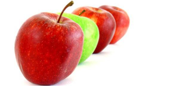 pommes colorees