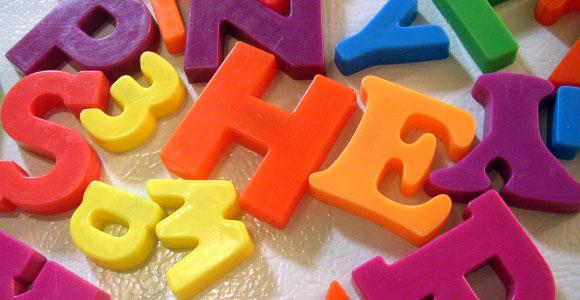 lettres plastiques